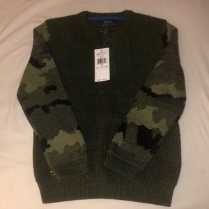 Boys Camo Polo Ralph Lauren Sweater